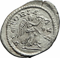 SEVERUS ALEXANDER 228AD Rome Authentic Silver Ancient  Roman Coin Victory i76227
