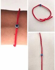 Red Braided String Bracelet With Evil Eye For Protection Luck Handmade Kabbalah