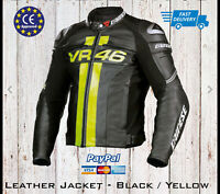 Valentino Rossi VR 46 Motorcycle Motorbike Leather Racing Moto GP Jacket