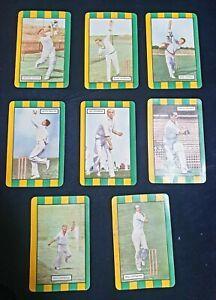 1953 - 1954 Coles Cricket Australian Cards Team x8 Set Group Benaud Neil Harvey