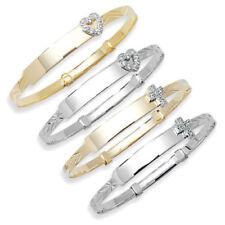 Pulseras de joyería de oro blanco de 9 quilates