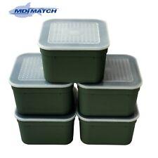 MDI Match 3.3 Pt Fishing Green Maggot Bait Boxes + Lids Pack of 5
