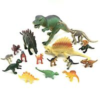 Plastic Dinosaur Toys 16 Pieces Kids Toy Pretend Playset Mixed Lot Multicolor 3