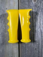OLD SCHOOL BMX GRIPS MX VINTAGE BMX BIKE BICYCLE GRIPS COBRA NOS YELLOW