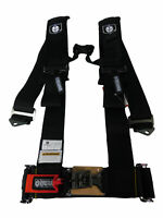 50 Caliber Racing Silver Safety Harness 5 Point 3 Inch Sewn in Pad Sternum Strap