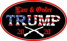 TRUMP SUPPORT STICKER LAW & ORDER 2020 DECAL WINDOW BUMPER