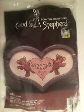 "Vintage 1985 Good Shepherd Counted Cross Stitch ""Beary Welcome"" Sealed"