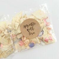 PINK Blue Petal Natural Biodegradable Wedding Confetti Dried Petal Bags PACKETS