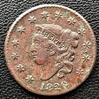 1826 Large Cent Coronet Head One Cent 1c Better Grade XF Details  #6602