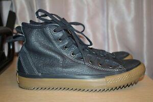 CONVERSE ALL STAR Chuck Taylor Hollis Hi Dark Navy Leather Men's US 9 132388C
