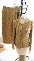 STUNNING LILY & TAYLOR BROCADE  SKIRT SUIT SIZE 4 NWT (SU200)