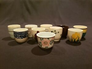 JOB LOT OF 10 VINTAGE EGG CUPS, VARIOUS DESIGNS