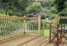 Black Metal Decking Spindles  Eden by Cheshire Mouldings - 5 Pack