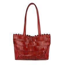 ELLEPI Italy Tote Shoulder Bag Woven Bag Red Fashion Shopping Weekend Handbag