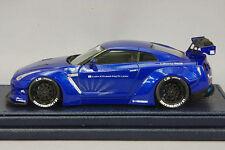 1/43 Liberty Walk Lb Works Nismo Nissan Skyline Gt-R R35 Gt Wing Blue Metallic