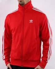 Adidas Originals Firebird Track Top Scarlet Red - Retro 3 Stripe Jacket