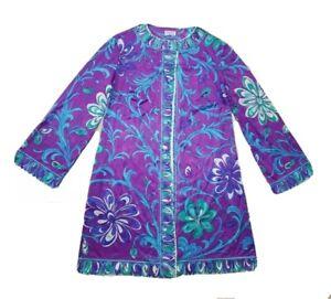 Emilio Pucci Formfit Rogers Mandarin Long Night Gown Maxi Dress Gogo Mod Flower