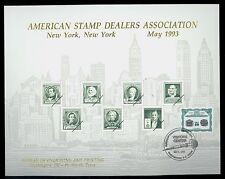 B168 Cancelled BEP Souvenir Card 1993 ASDA Show New York Cat $20.00