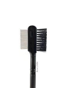 New Deluxe Duo Metal Eyelash Comb Brush Lash Eyebrow Makeup Eyelash Extension