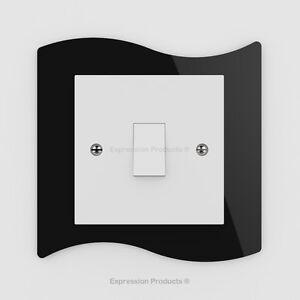 Single / Double Light Switch / Plug Socket Back Plate Finger Surround Panel 003