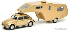 Schuco 1:43 VW Beetle 1200 w/ 5th Wheel Camping Trailer