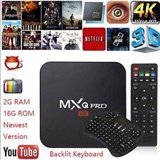 Mxq Pro Android 7.1 Smart Tv Box 8G 16G S905W Wifi 4K 3D Media Streamer+Keyboard