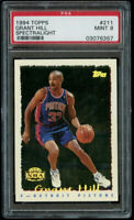 1994-95 Topps Grant Hill Rookie Spectralight SP PSA 9 Mint RC #211 HTF
