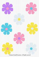 Crochet Patterns - FLOWER POWER Graph SCRAP YARN PATTERN