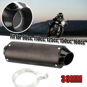 38MM ATV Off-road Motorcycle Exhaust Pipe Muffler Silencer Universal Dirt Bike