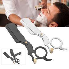 Straight Edge Barber Razor Folding Shaving Shave Knife Cream Stainless Steel