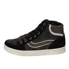 scarpe bambino BLAIKE 31 EU sneakers nero grigio pelle scamosciata pelle AD700-B