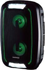 Daewoo AVS1356 Rechargable LED Bluetooth 20W Party Speaker - (Black) B+