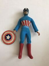 "Vintage Mego 8"" Inch Captain America Figure With Shield"
