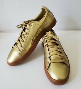 New Puma Clyde TOTT FM Metallic Gold Rubber Bottom Size Men's 10  364786 01