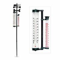Relaxdays XXL Termómetro estación meteorológica de jardín 145 cm con 4 funciones