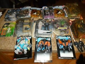 LARGE LOT ACTION FIGURE THE CROW SILVER SURFER X-FILES SPAWN STAR WARS STAR TREK