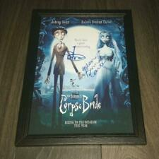 """Corpse Bride PP X2 Signed Poster 12""""x8"""" Johnny Depp"""