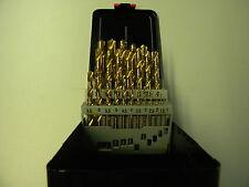 Spiralbohrer Satz 1 - 13 mm um 0,5 mm steigend HSS-TIN beschichtet