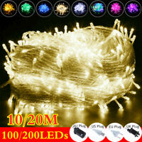 LED Curtain Fairy String Lights In/Outdoor Backdrop Wedding Xmas Party Decor UK