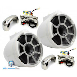 "WET SOUNDS REV8-W-FC 8"" WHITE MARINE BOAT EFG 4-OHM MID BASS TOWER SPEAKERS NEW"