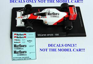 DECALS Ayrton Senna 1990 McLaren MP 4/5B Marlboro 1:43 Formula 1 F1 ALTAYA