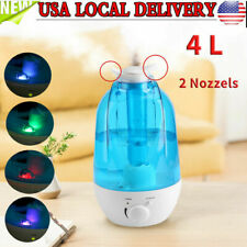 4L Ultrasonic Cool Mist Led Aroma Air Humidifier Diffuser Purifier Dual Nozzle
