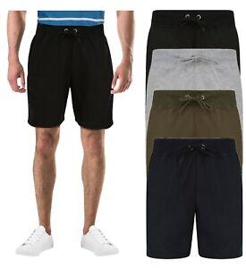 Mens Shorts Boys Joggers Running Zip Pockets Gym Jogging Sweat Drawstring New