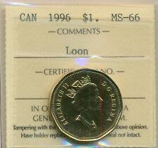 1996 Canada Loon Dollar ICCS MS-66