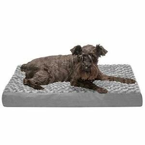 Furhaven Pet Dog Bed - Deluxe Memory Foam Mat Ultra Plush Faux Fur Traditiona...