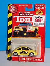 Maisto TONKA Die Cast Collection 2 VW New Beetle Yellow BONZAi