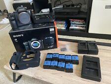 Sony Alpha A7 II 24.3MP Digital Camera Body W/ Sony Battery Grip 9 Batteries Etc