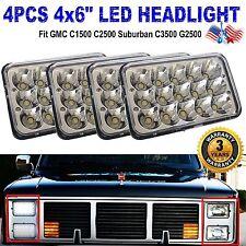 4pcs CREE LED Headlights For GMC G1500 G2500 G3500 C2500 C3500 Suburban K3500