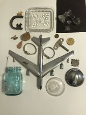 New listing 18331 Junk Drawer Special Lot- Usaf, Lids, Stoppers, Watches - (Fossil Removed)