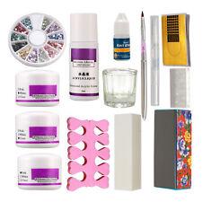 Professional DIY Basic Acrylic Nail Art Tips Kit Liquid Powder Glue Tools Set